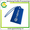 Silicone rubber luggage tag screen printed logo