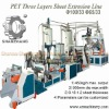 100 and 65 Double Screw Extruder Three Layers PET Sheet Machine