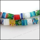 beautiful colorful Flower Cube Millefiori Beads fit jewelry making beads for braceler or necklace110564