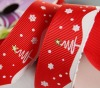 Christmas White Snow Printing Ribbon