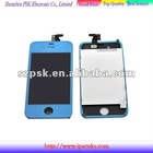 for iphone 4 lcd with touch digitizer full assembly Light Blue