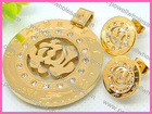 Fashionable High Quality Ladies Italian Gold Jewelry Sets Accessories
