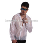 Jaggad new men white hooded wind proof rain proof rain coat