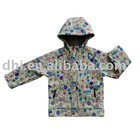 printed softshell jacket,girl's active sports wear and windproof jacket