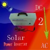 Solar lighting system with DC-AC power inverter