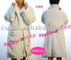 Thickening type coral fleece bath robe