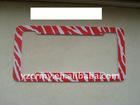 Hot Red Zebra funny license plate frames