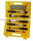 7 pieces wooden chisel with plastic handle