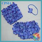 royal blue flower shorts flower top with foe headband for kinds 3pcs/set