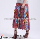 Women Cheap Patchwork 100% Cotton Long Skirts