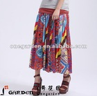 Women Cheap Patchwork 100% Cotton Long Skirts