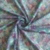 Circle pattern heat transfer printing lace fabric for women garment