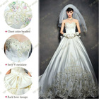 S1282 2013 New Cutting Lace Crystal Beaded Satin Wedding Dresses