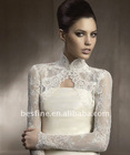 La158 Long Sleeve Ivory Bridal Belero Shawl