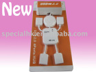 New Cute White Human Shape Laptop PC USB 2.0 Hub 4 Port
