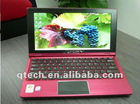 OEM 11.6inches purple mini laptop anti radiation netbook Intel Atom N450/1.66G 1G DDR3/160G HDD 1366 x 768 widescreen