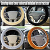 Plain Car Fur Steering Wheel Cover Furry Fluffy Fur Truck SUV, YRC103A