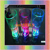 lighted up glass with multicolor led light 350ml press on off switch