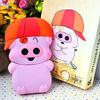 Cute 3D McDull pig Carton Silicon Back Case For iPhone 4G/4GS