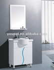 vanity and basin, pedel with basin,wall mounted mirror and soap shelf