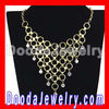 European Gold Chain Crystal Choker Collar Bib Necklace Women