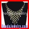European Gold Chain Crystal Choker Collar Bib Necklace Women