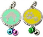 Logo metal dog tag with soft enamel colors
