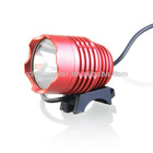 Kinfire 900 Lumens 3-Mode 1*Cree-T6 Bright White Light LED Headlamp with Adjustable Head Strap/Battery Pack (Red)