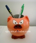 pig shape pen container