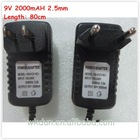 Hot sale 9v 2a 2.5mm power supply charger
