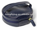 2012 hot sale pu leather makeup case with handle and zippered
