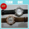 Elegant Design Wrist Watch with Rhinestone PU Wristband UDTEK00810