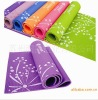 Various Color 3-6mm Flower Printed PVC Yoga Mat