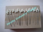 Slight Size 95mm Gorgeous Ivory Triple Faux Pearl Head Pin with Vintage Style