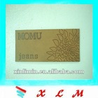 custom pu leather label for jeans