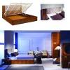 modern luxury hotel bedroom furniture design soft headboard functional bed frame