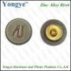 Zinc alloy button rivet