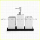 Porcelain square bathroom set