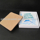 Heat-resistance mdf cork back coaster