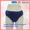 xiamen Freego blue men`s disposable nonwoven fabric PANTY