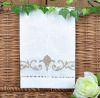 Linen machine embroidery and hemstitch guest towel