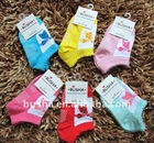 busha Boat Socks Butterfly Picture Anti-slip Floor baby socks