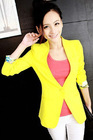 2012 fashion Candy multicolor zipper down jacket