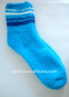 Bright colored young bamboo fiber ladies terry socks