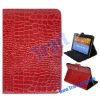 Crocodile Lines Pattern Stand Leather Case for Samsung Galaxy Tab 8.9 P7300/P7310(Red)