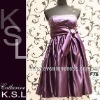 Purple Satin Back Open Sexy Fashion Short Prom Dress 2012 F76