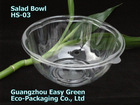 New! Plasitc Salad Bowl With Dome Lid HS-03
