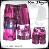 100% polyester mens beach shorts