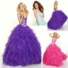 Blingbling Sweetheart Ball Gown Corset Beaded Western Quinceanera Dresses