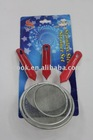 3pc red plastic handle small oil strainer set